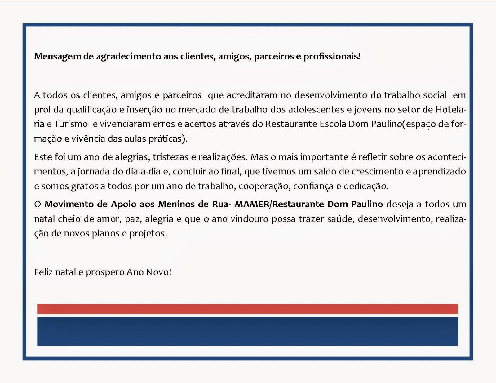Preferência AGRADECIMENTOS AOS AMIGOS,CLIENTES,PARCEIROS E PROFISSIONAIS  OW35