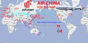 Air China logo. IATA code : CA ICAO code : CCA Callsign : AIR CHINA (china air routes map)