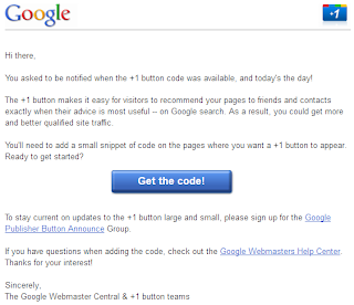 Google +1 for Websites: Code