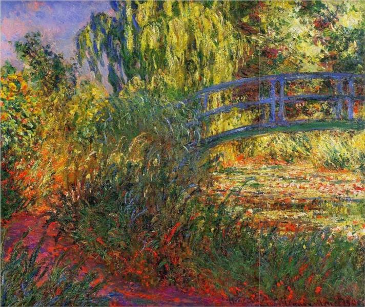 "Picture of ""Path Along the Water Lily Pond"" by Claude Monet, 1900"