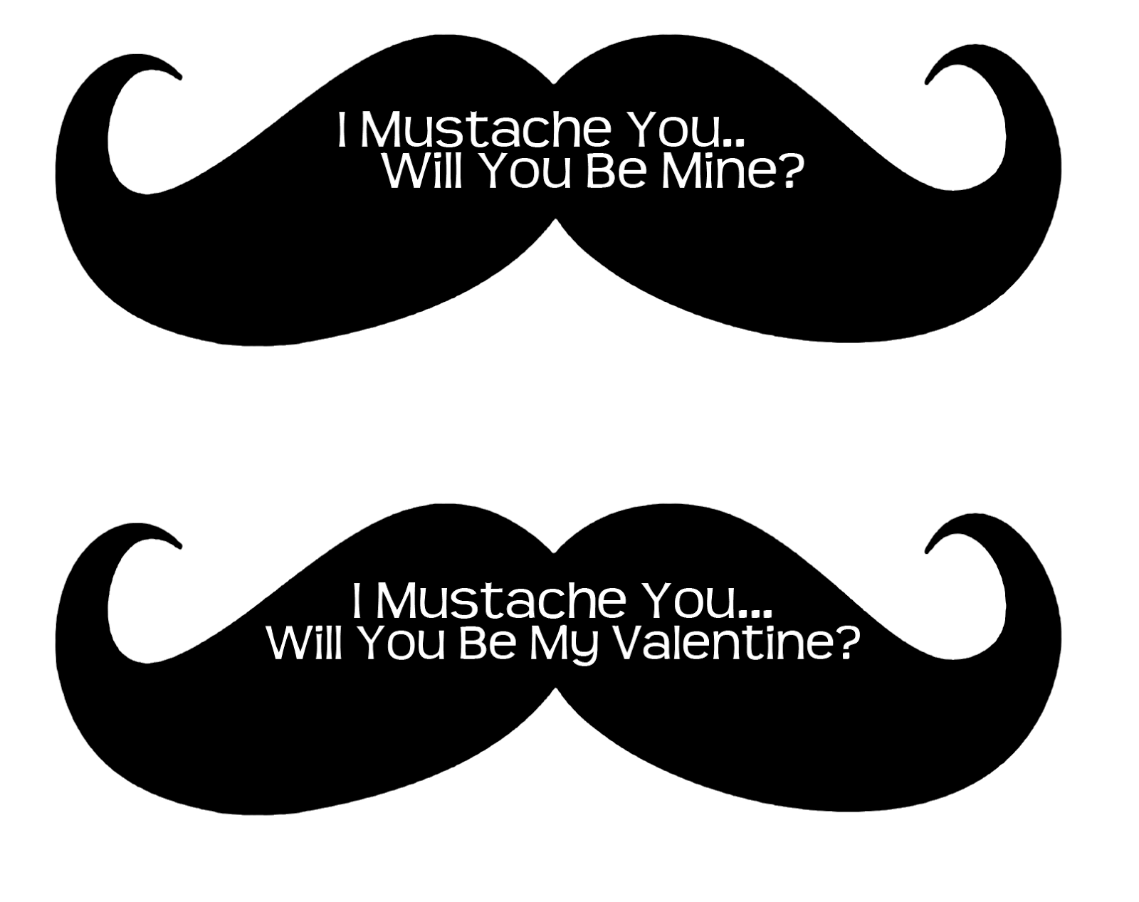 I Mustache You A Question| Free Printable Valentines | Frugalful 2.0