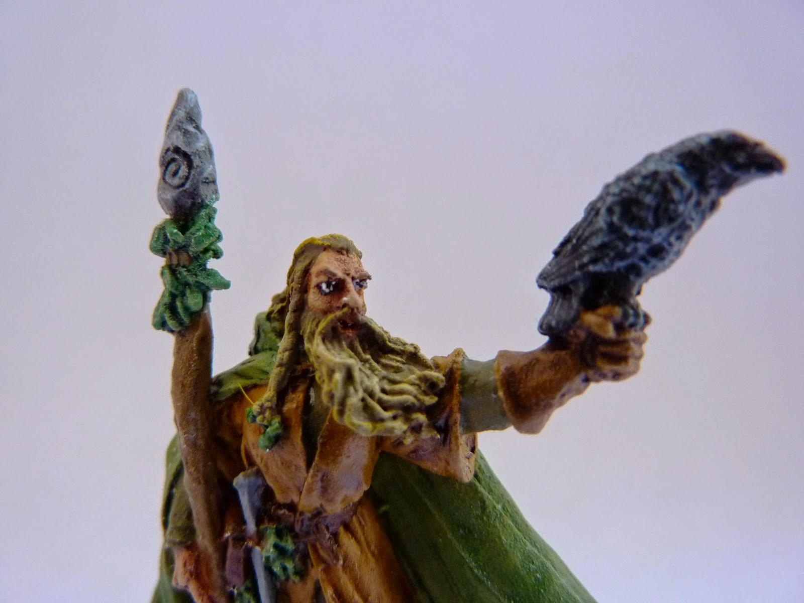 Radagast in the style of a Warhammer Empire Jade Wizard