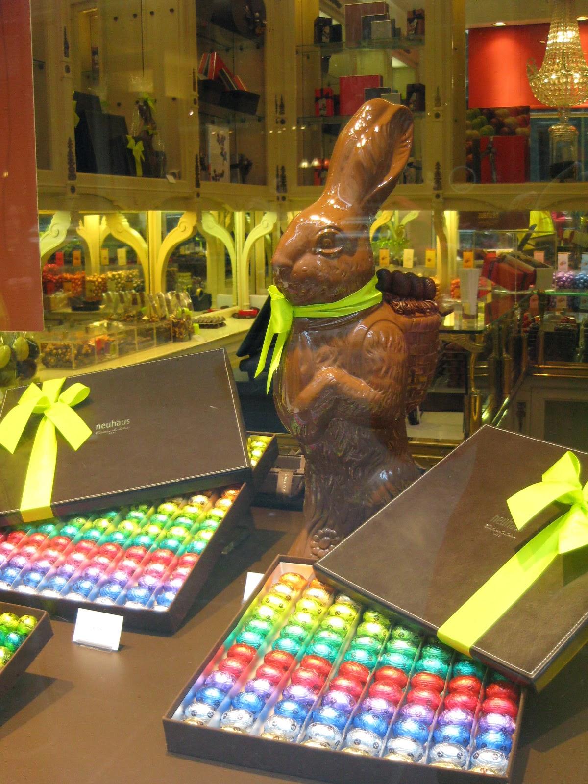 Escaparate de la chocolatería Neuhaus