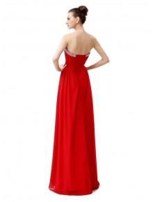 vestido rojo llamativo