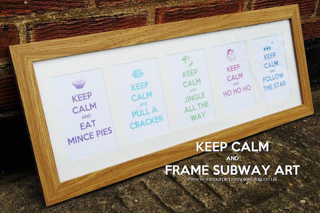 Keep Calm Subway Art | The Purple Pumpkin Blog