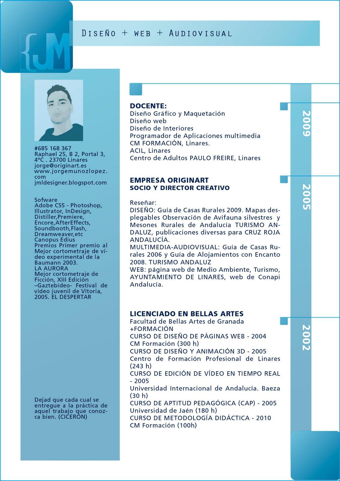diseñojorgemuñoz/indesign]: 07/EJ - Diseño y Maquetación 4 [Currículum]