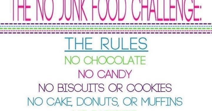 No Junk Food Amp Exercise Calendar January Fitness Challenge
