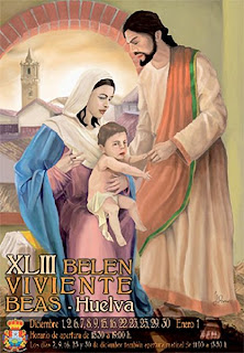 Cartel Belén Viviente en Beas (Huelva) 2012