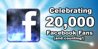 20,000 Facebook Fans = A Giveaway for Everyone
