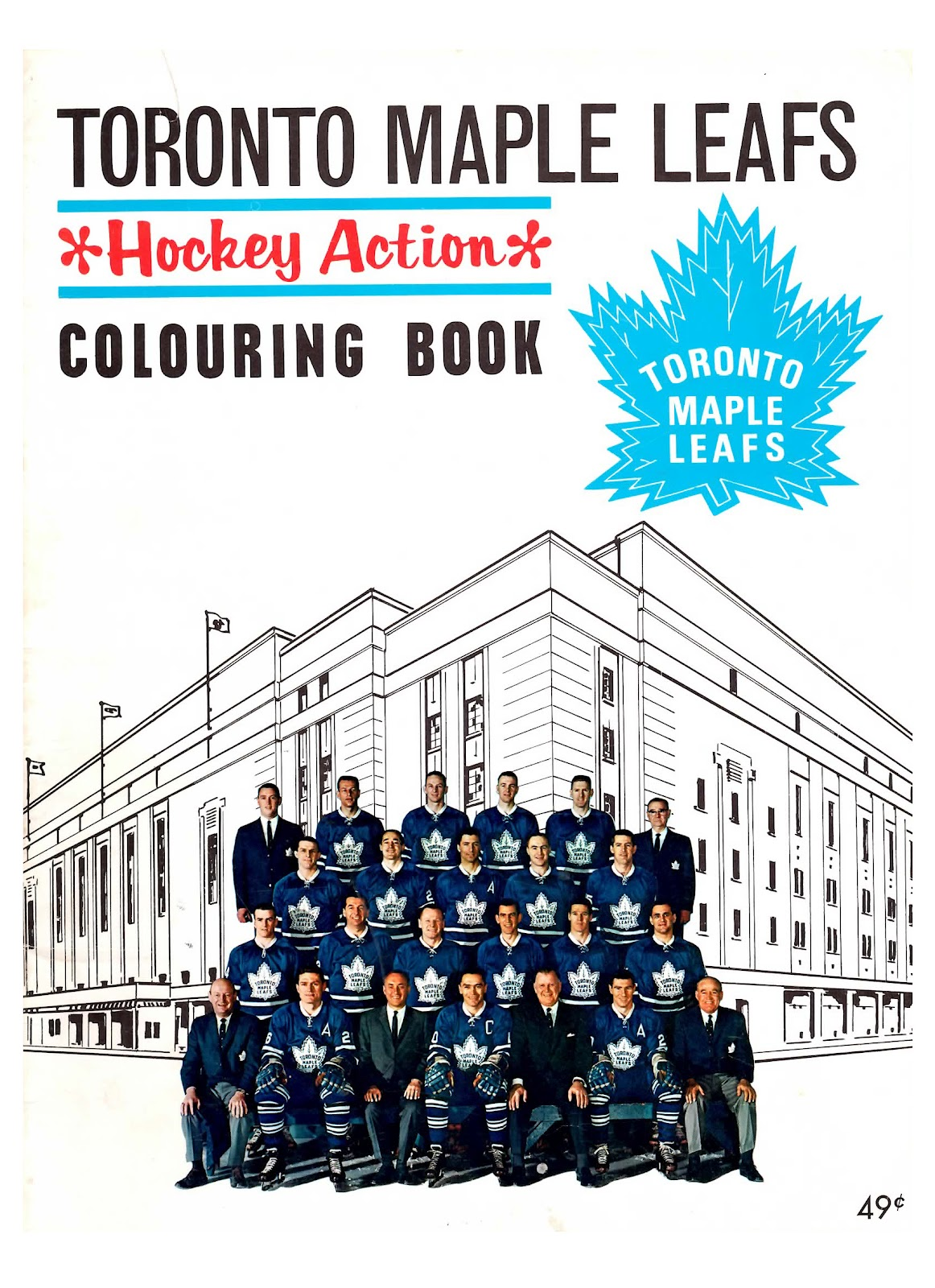 Nitzy S Hockey Den Maple Leafs 1964 Colouring Book Toronto Maple Leafs Coloring Pages