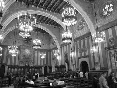 Salo de Cent in the City Hall of Barcelona