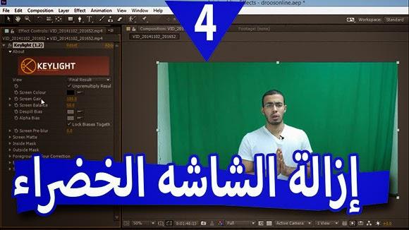 الدرس الرابع تغير خلفية الفيديو عن طريق إزالة الشاشة الخضراء أو