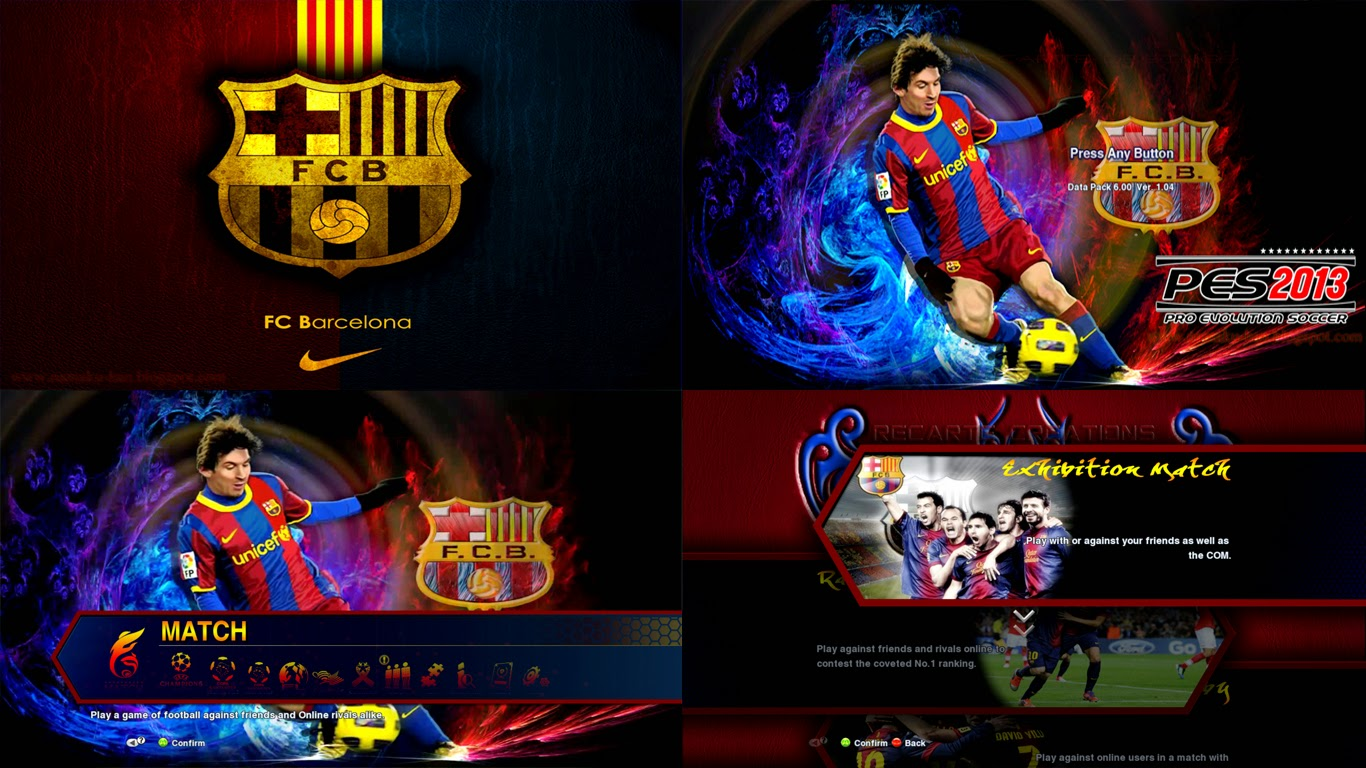 All Mod Grafik Menu Icon & Background Pes 2013