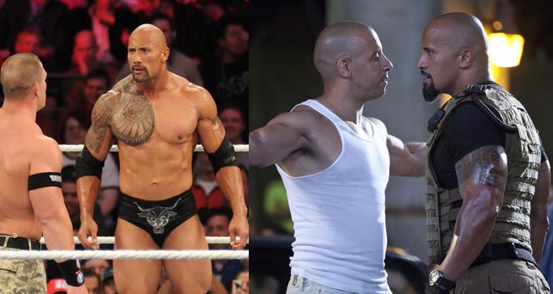 The Rock mayormente conocido como la roca se a hecho aún más famoso por el cine que por la lucha libre