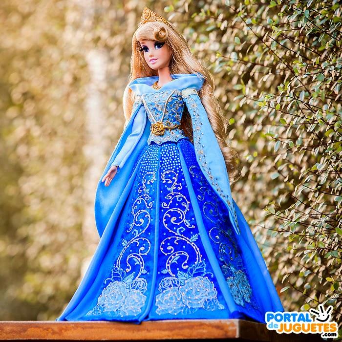 muñeca aurora azul edicion limitada disney store