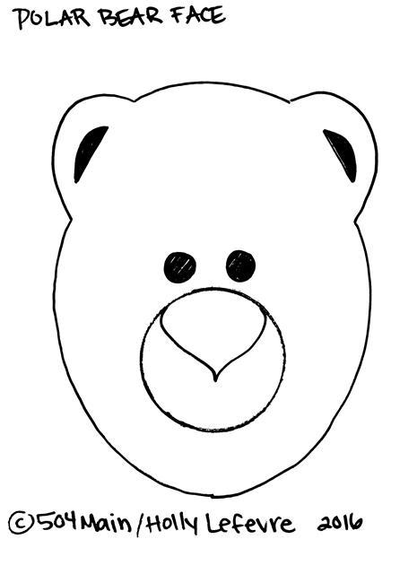 Polar bear face outline - crazywidow.info