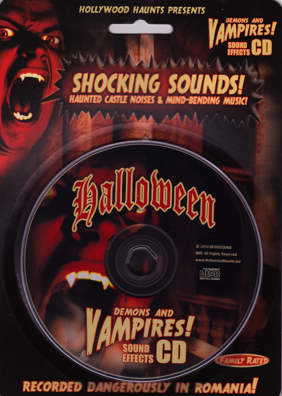 halloween demons and vampires sound effects cd