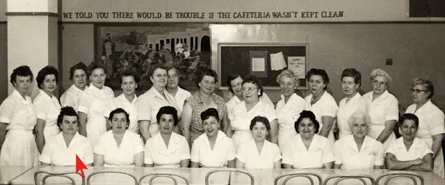 Cafeteria ladies in 1960s