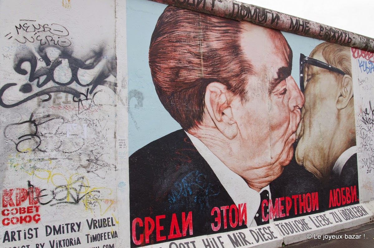 Berlin - East Side Gallery - le baiser