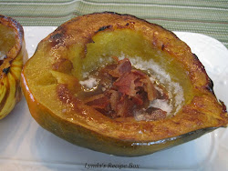 Baked Acorn Squash with Bacon