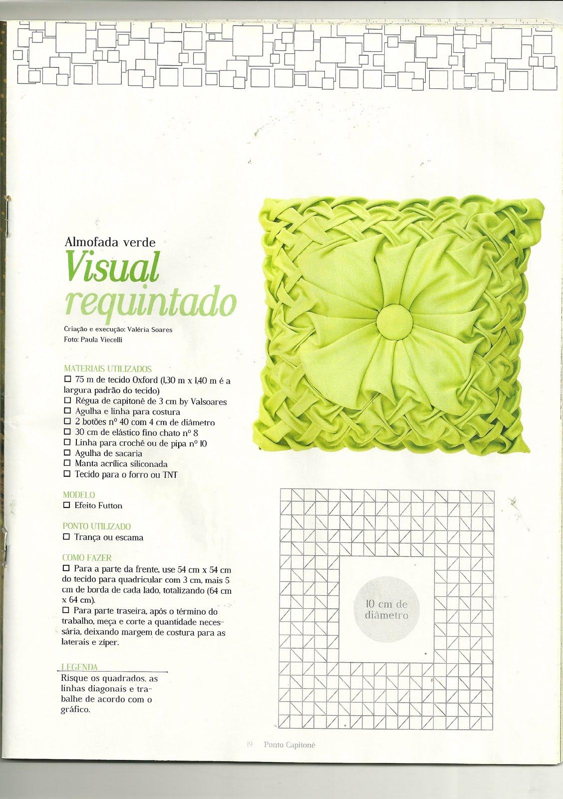 Схема наволочки из ткани