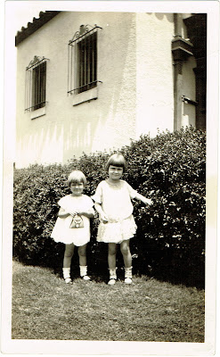 two young daughters of Jack and Ruth Davis possibly in Tampa Florida