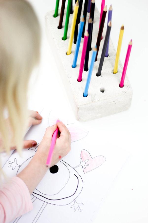Selbstgebauter Halter für Stifte