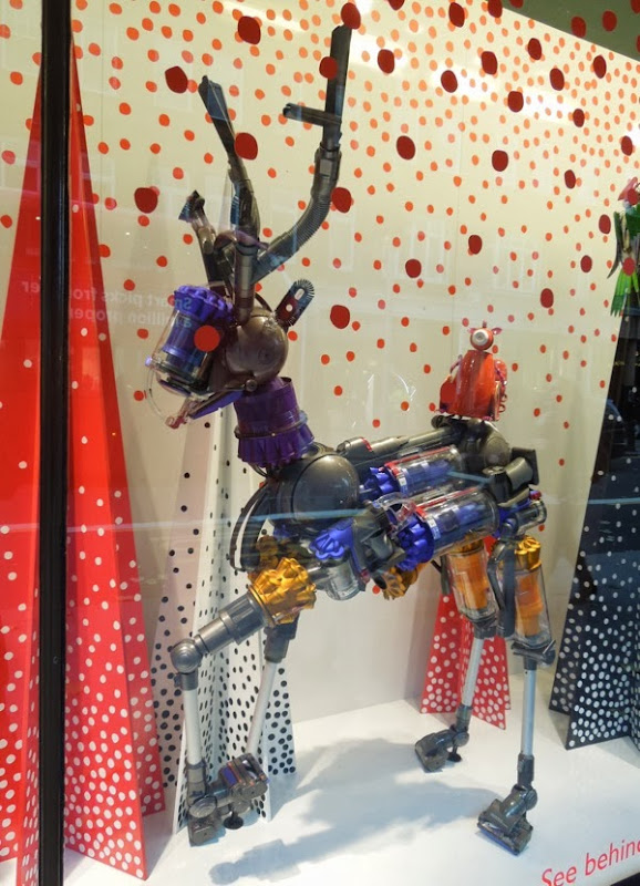 Dyson reindeer Peter Jones Christmas window