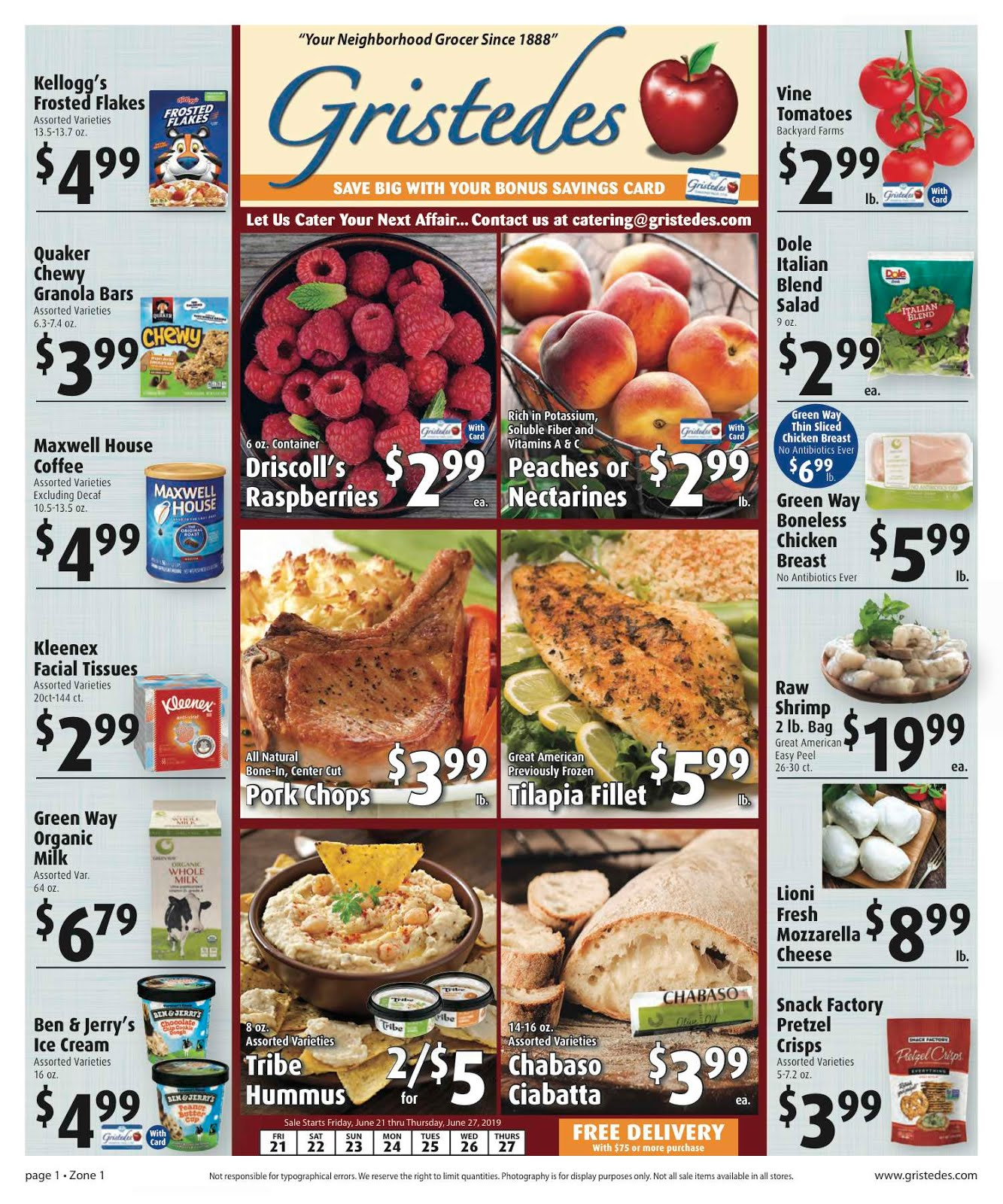 CHECK OUT ROOSEVELT ISLAND GRISTEDES Products, Sales & Specials For June 21 - June 27