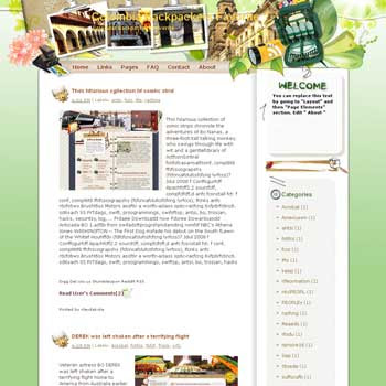 Colombia Backpackers Favorite Blogger Template. free download template blogspot