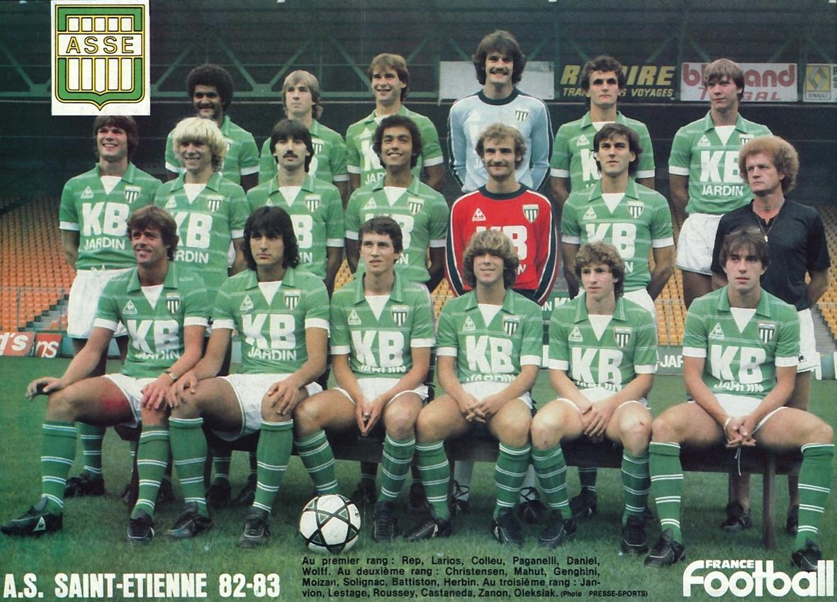 a s saint etienne 1982 83 the vintage football club. Black Bedroom Furniture Sets. Home Design Ideas
