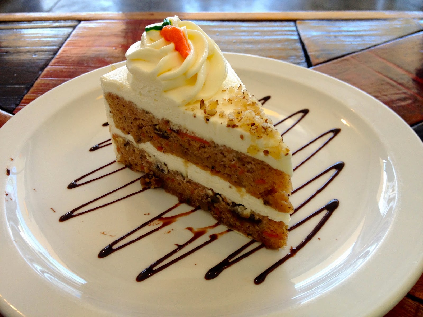 Yummy Carrot Cake at Tazza Cafe and Patisserie Lahug