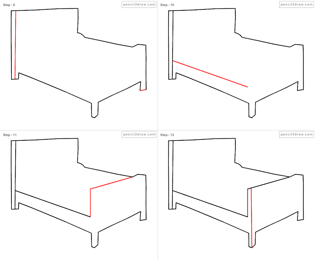gallery for easy bed drawing