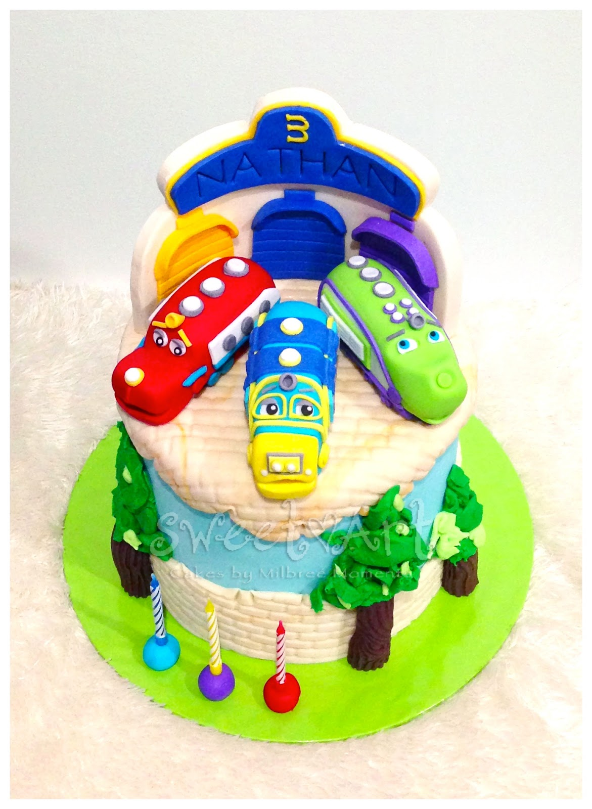 Sweet Art Cakes By Milbreé Moments July - Chuggington birthday cake