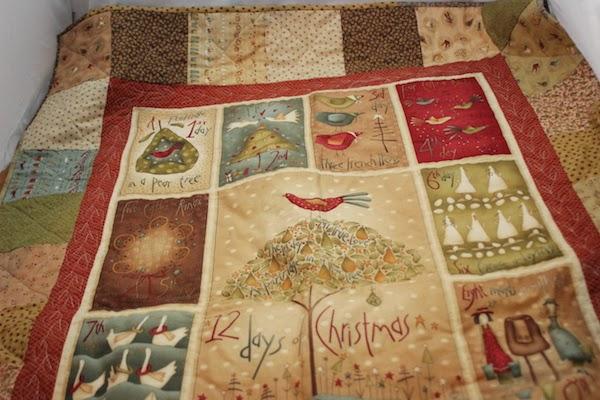 Panel de navidad montado en patchwork