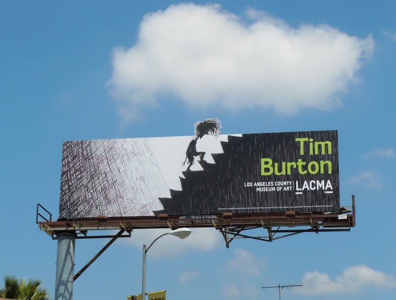 Tim Burton LACMA billboard