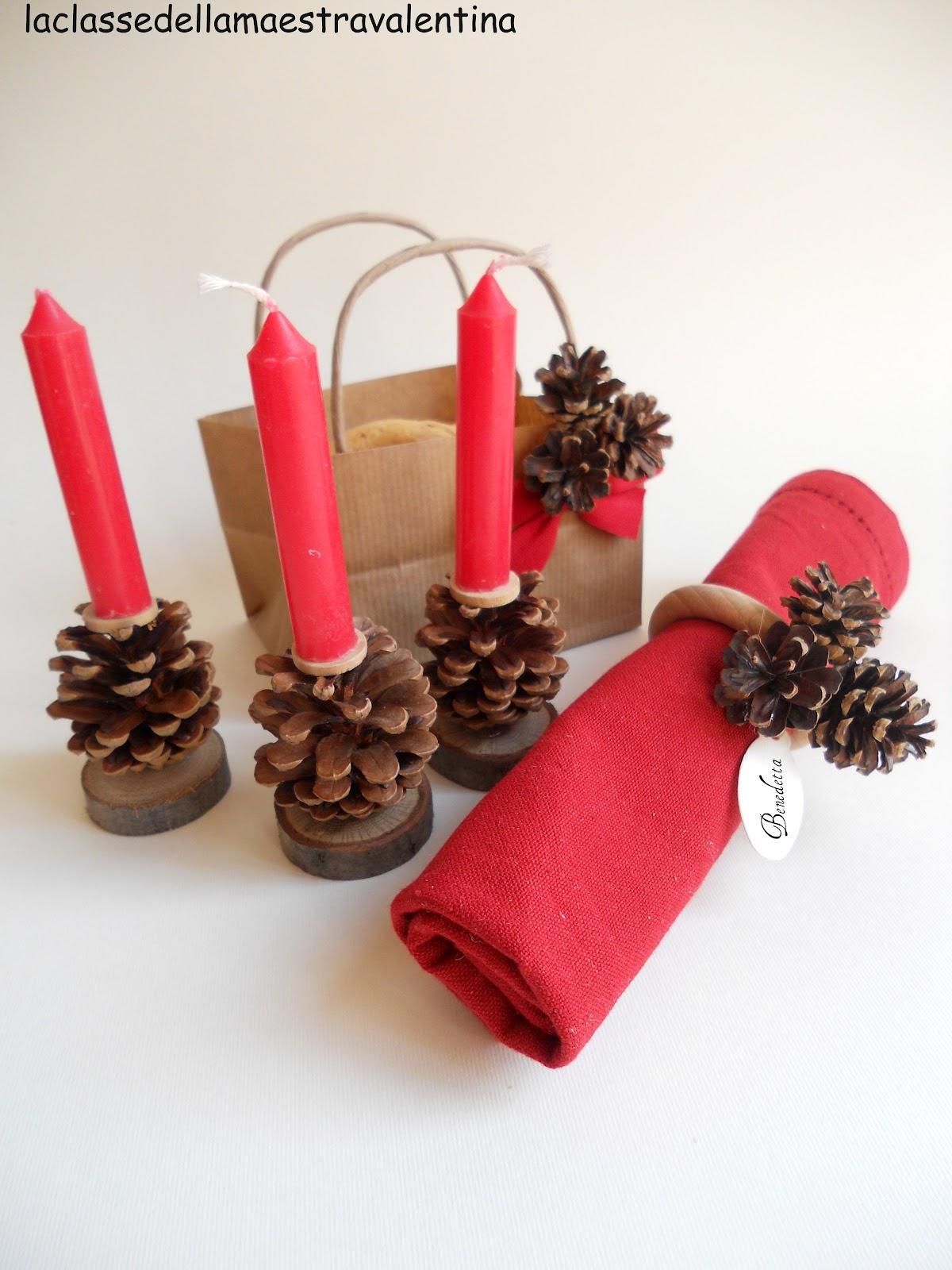 La classe della maestra valentina decorazioni per la tavola di natale - La tavola di natale decorazioni ...