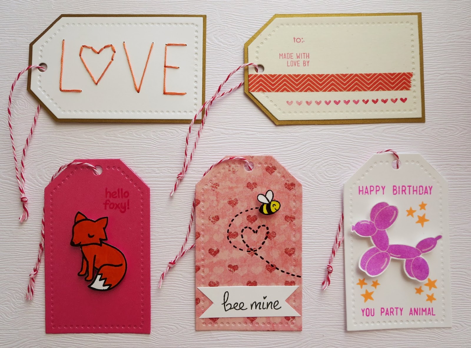 fresh crafts: tags for Valentine's Day