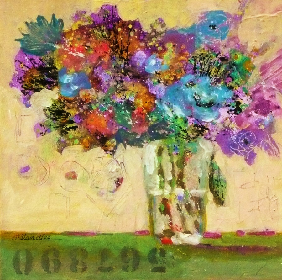 Nancy standlee fine art admit two acrylic figurative for Floral acrylic paintings