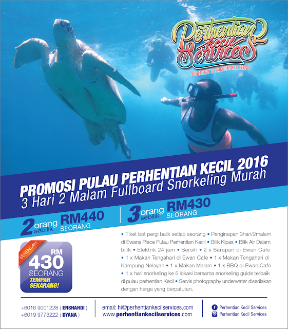 Pakej Snorkeling Pulau Perhentian Kecil 2016