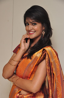 Model krupali in silk saree at cmr ashadam event 012.jpg