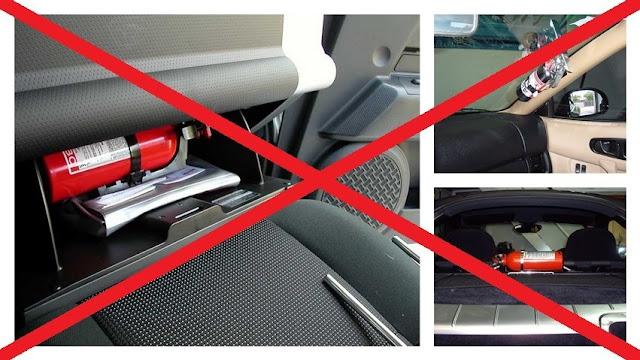 binh cuu hoa dat khong dung - Bình cứu hỏa cho xe Ô tô: Mua loại nào, Cách lắp đặt trên xe ?