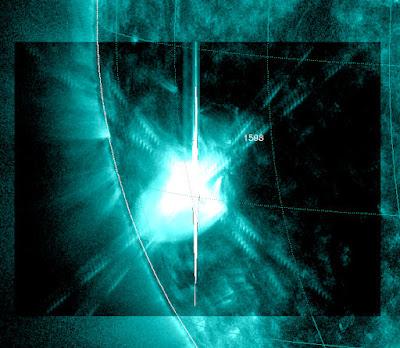 LLAMARADA SOLAR CLASE X1.8, EL 23 DE OCTUBRE 2012