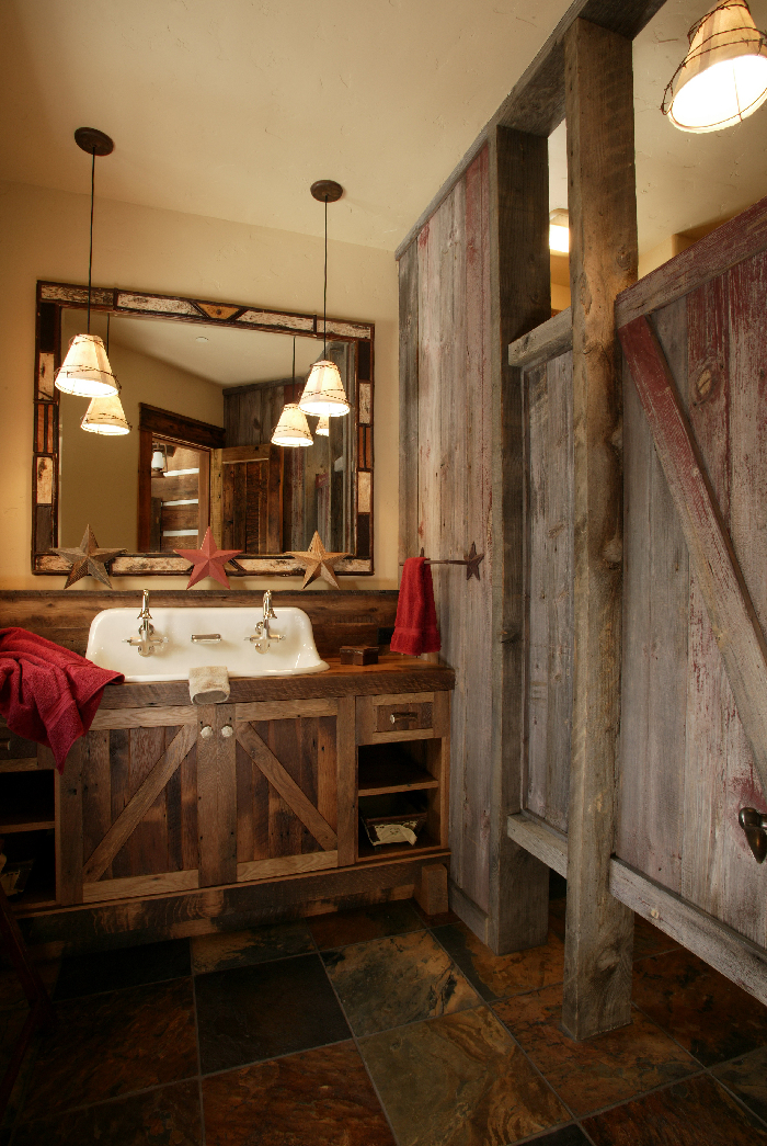 Western bathroom design furniture gallery Rustic bathroom decor ideas