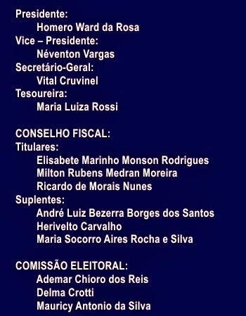 DIRETORIA ADMINISTRATIVA DA CEPABrasil PARA O PERÍODO - 2015-2017