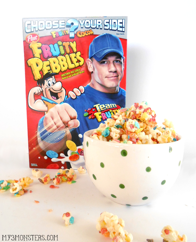Fruity Pebbles Popcorn recipe at my3monsters.com