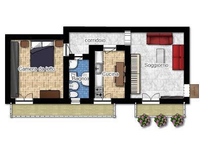 La casa in vetrina soluzioni salvaspazio creare una - Planimetria casa 60 mq ...