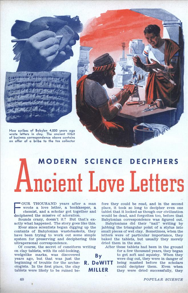 Daily Lazy Ancient Love Letters Sep 1939