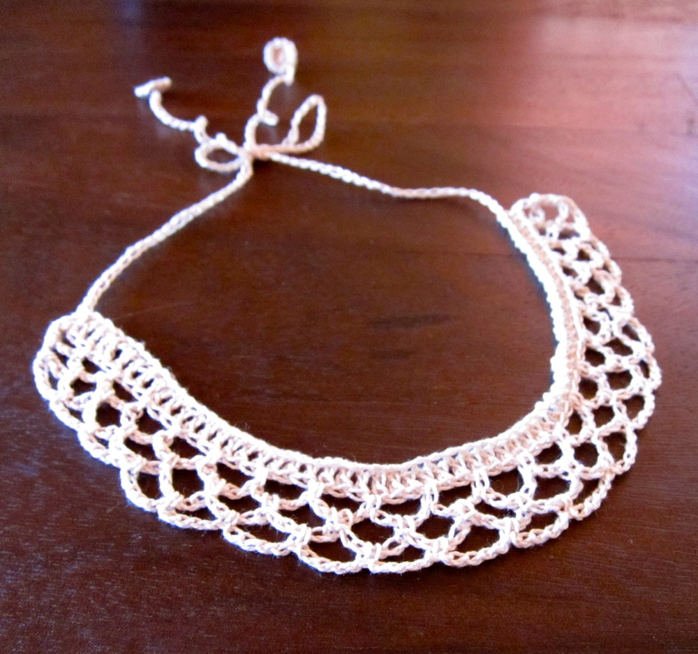 Free Pattern Choker Necklace Made With Crochet Thread