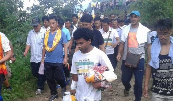 Gurung on 3rd Day of Gorkhaland Jagaran Yatra